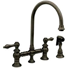 Victorian Kitchen Faucets by Whitehaus Whkblv3 9101 Vintage Lever Bridge Kitchen Faucet With