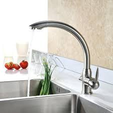 brushed nickel faucet with stainless steel sink the latest polished nickel kitchen faucet the homy design best