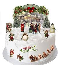 Christmas Cakes And Decorations by Christmas Cake Decorations Amazon Co Uk