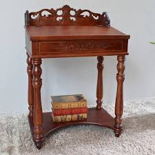 Small Wood Writing Desk International Caravan Carved Small Wood Writing Desk