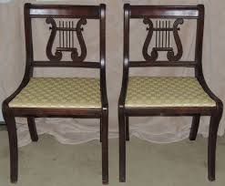 Duncan Phyfe Drop Leaf Dining Table Duncan Phyfe Lyre Back Chairs