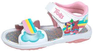 trolls girls summer sandals adjustable strap sports beach shoes