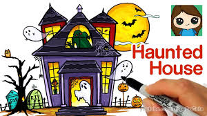 28 easy house drawing simple drawing of house how to draw a haunted house easy youtube