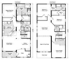 Two Storey Floor Plans Custom 70 Cool Two Story House Floor Plans Inspiration Design Of