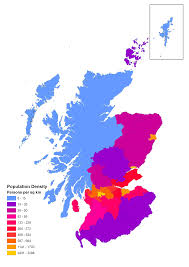 Map Of Glasgow Scotland Population Density Of Scotland Maps Pinterest