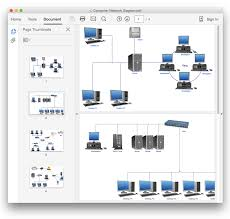 convert a computer network diagram to adobe pdf conceptdraw helpdesk