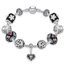 halloween charm bracelets wholesale 925 silver plated korea fashion style women charm