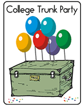 going away to college invitations free printable college trunk party invitations