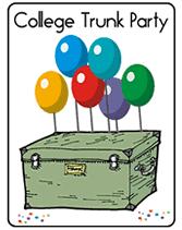 free printable college trunk invitations
