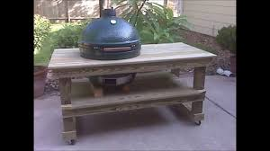 diy grill table plans table for big green egg youtube