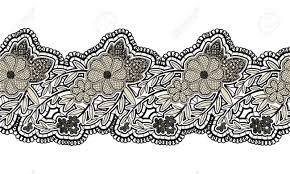 black lace ribbon black seamless lace ribbon isolated on white background floral
