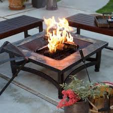slate fire pit table red ember wheatland 50 in outdoor square tile convertible fire pit