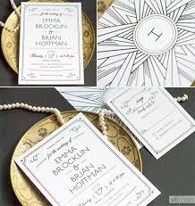 Art Deco Wedding Art Deco Wedding Invitations Marialonghi Com