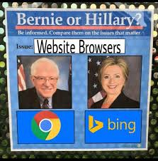 Web Browser Meme - web browser bernie or hillary know your meme