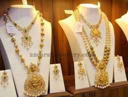 short chain pearl necklace images Gold temple jewelry temple gold and indian jewelry jpg