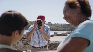 happy tourists on holidays hispanic traveling in