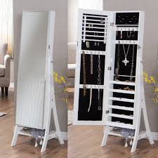 cheval jewelry armoire full length mirror and jewelry armoire