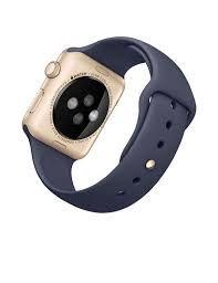 apple watch sport 42mm gold aluminum case with midnight blue sport
