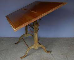 Mechanical Drafting Tables Vtg Cast Iron Drafting Table Industrial Artist Architect Work