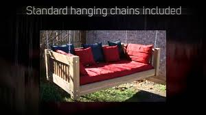 tmp outdoor furniture traditional red cedar daybed swing youtube