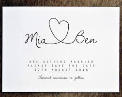 wedding save the date cards printable save the date pdf personalised simple calligraphy