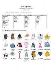 english worksheets order of adjectives worksheets page 10