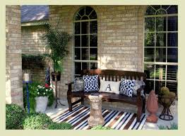 furniture patio design ideas with black wicker front porch