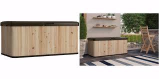 Outdoor Storage Bench Waterproof Patio Storage Bench Box Garden Outdoor Resin Seat Waterproof