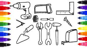 Coloring Page Power Tools Hand Tools And Coloring Painting For Tools Coloring Page