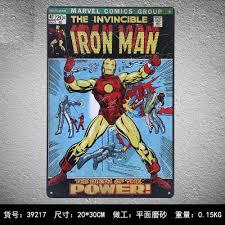 tin home decor aliexpress com buy marvel the invincible iron man vintage home