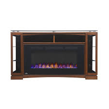 shop shelton electric fireplace tv stand in mahogany finish
