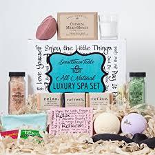 Relaxation Gift Basket Amazon Com Spa Kit Relaxation Gift Set Two Bath Bombs Bath