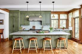 light green painted kitchen cabinets craftsman kitchen with green painted kitchen cabinets with
