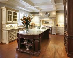 ornate deep brown kitchen island for victorian kitchen design with
