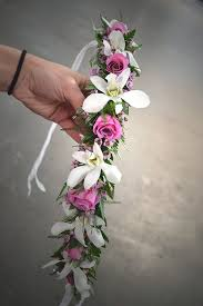crowning floral spray a haku flower crown from our design class dendrobium