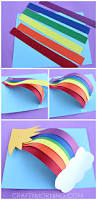 3d paper rainbow kids craft 3d paper rainbows 3d