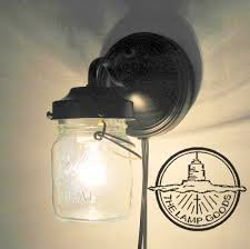 Flush Mount Lighting Fixtures Plug In Mason Jar Wall Sconce Light Farmhouse Flush Mount