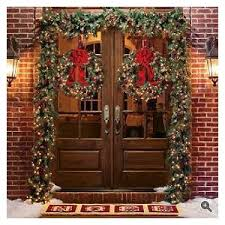 classic outdoor pre lit garland frontgate polyvore