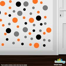 black grey orange polka dot circles wall decals decal venue black grey orange circle polka dots decal stickers decal venue