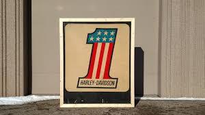 Harley Davidson Flags 1970s Harley Davidson Lighted Dealer Sign 60x72 K106 Las Vegas