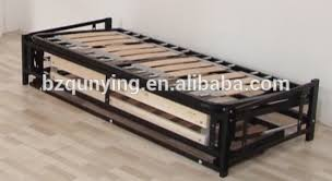 Folding Bed Mechanism New Design Modern Convertible Steel Wood Slat Folding Sofa