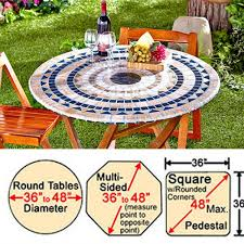 Round Elastic Tablecloth Fitted Mosaic Table Cover In Dubai Abu Dhabi Fujairah Ajman