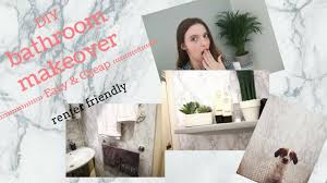 how to diy a bathroom makeover easy and cheap renters friendly