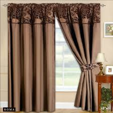 new fully lined ready made tape top curtains chocolate brown 2