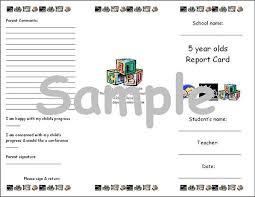 preschool report card template preschool curriculum materials