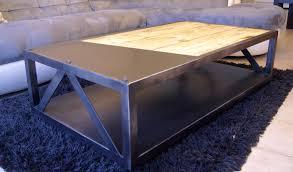 Table De Salon Industrielle by Table Basse Bois Metal Design U2013 Ezooq Com