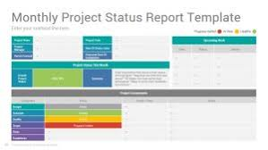 project monthly status report template project status report powerpoint template design slidesalad