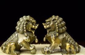 pixiu statue fengshui brass pixiu brave troops unicorn beast statue pair