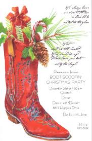 Cowboy Christmas Party Invitations - odd balls invitations container crazy ct