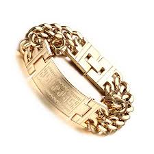 bracelet hand chain images Vinterly men 39 s 316l stainless steel jewelry great wall pattern jpg